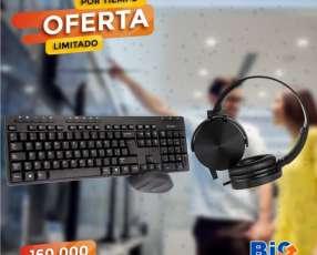 Kit teclado y mouse inalambrico kolke + auricular blaze kol