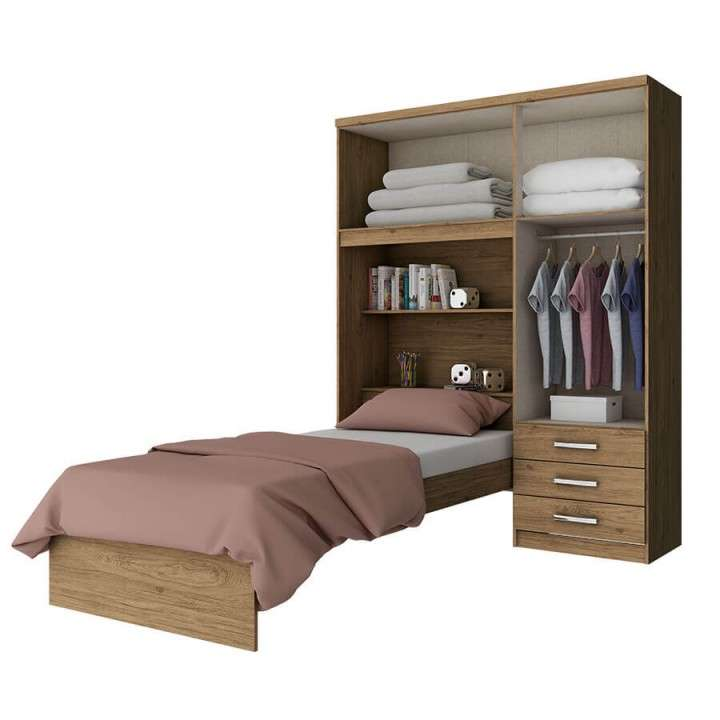 Ropero + cama cravo d134 henn rústico - 0