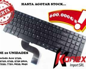 Lote 10 teclado Acer 5810 series español