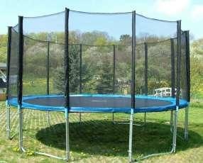 Cama elástica 4.3 mts con red c/ aro de basquet