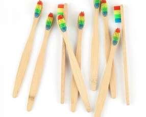 Cepillo de dientes Arco Iris bambú