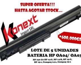 Lote de 5 baterías HP OA04/OA03 HP 240 G2