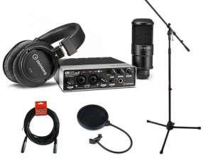 Steinberg UR22 MKII Recording Pack+stand+XLR+Antipop+Araña