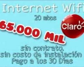 Servicio wifi 20 mb