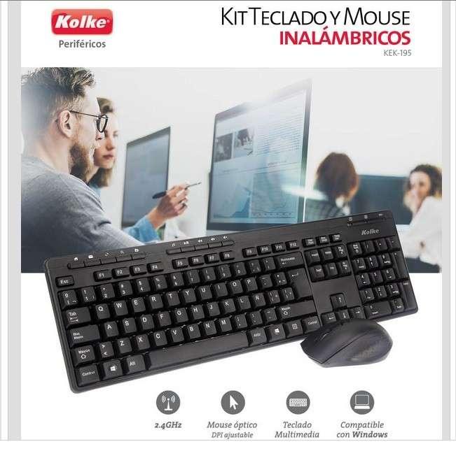 Kit teclado y mouse inalambrico - 0