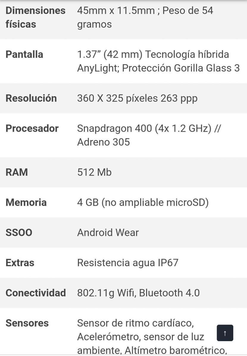 Smart Watch Moto 360 sport 2da Generación - 4