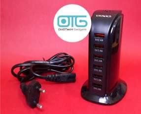 Adaptador cargador 6 USB 220 v