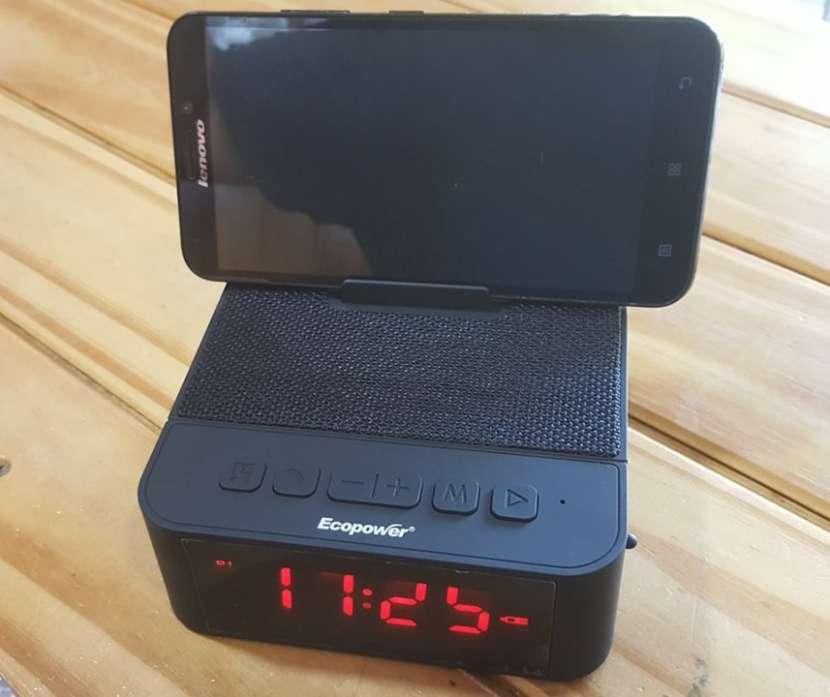 Reloj despertador con parlante -bluetooth - 0