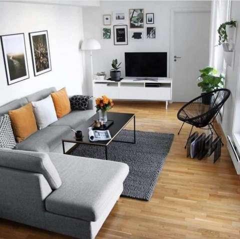 Sofá en L nórdicos modernos retros y vintage