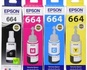Pack de botellas de tinta Epson T664 - 4 colores BK/C/M/Y