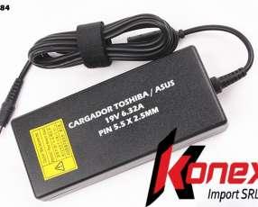 Cargador Toshiba/ Asus PIN 5.5 X 2.5MM 19V 6.32A