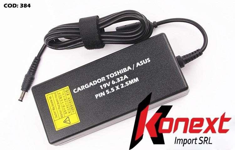 Cargador Toshiba/ Asus PIN 5.5 X 2.5MM 19V 6.32A - 0