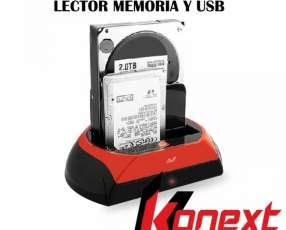 Dock Station2.0 IDE-SATA-2,5-3,5 lector memoria y usb