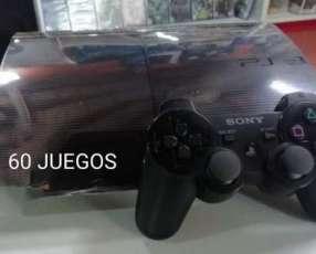 PlayStation 3 de 500 gb con más de 60 juegos cargados