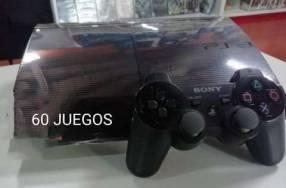 PlayStation 3 de 250 gb con 30 juegos cargados