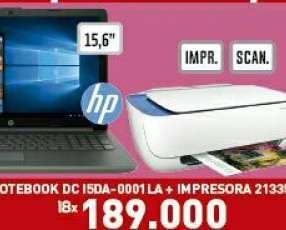 Notebook 15,6 pulgadas + impresora