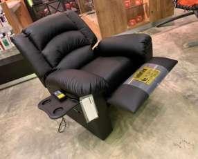 Sofá reclinable con porta vasos