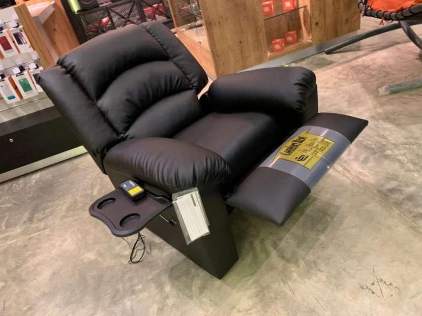 Sofá reclinable ecocuero - 4