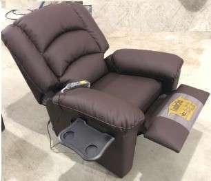 Sofá reclinable ecocuero - 1