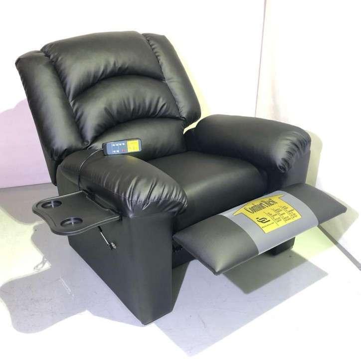 Sofá reclinable ecocuero - 2