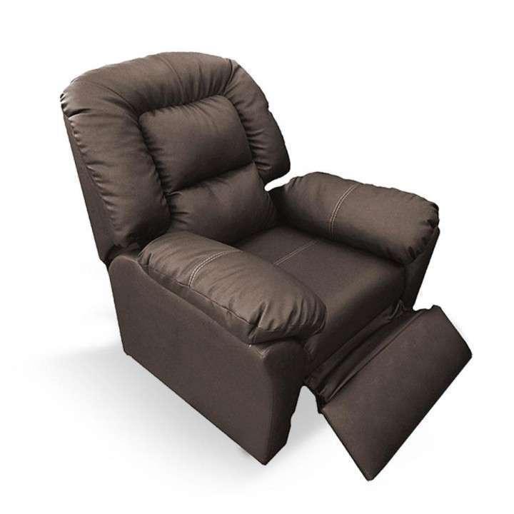 Sofá reclinable ecocuero - 0