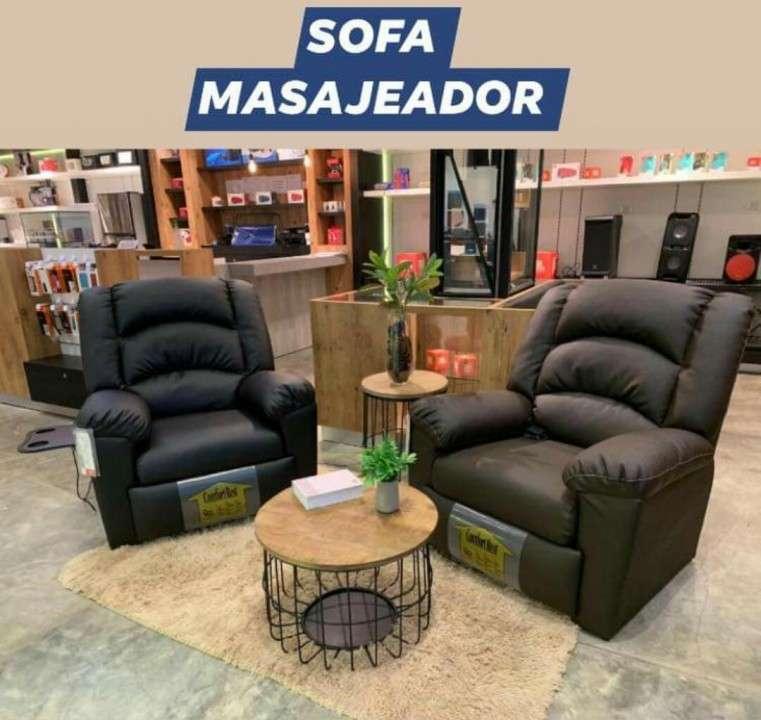 Sofá reclinable ecocuero - 3