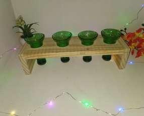 Shots vaso trago largo florero hechos de botellas de vidrio