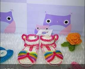 Zapatitos de crochet para bebés