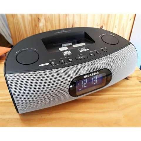 Radio fm usb con reloj despertador