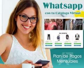 Sitio Web Catálogo online integrado a whatsapp