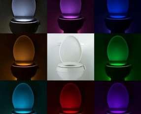 Luz de baño 8 colores con sensor