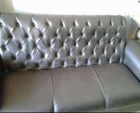 Fabricación de sofá chesterfield a medidas