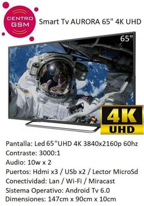 TV Smart 65 pulgadas Ultra HD 4K - 0