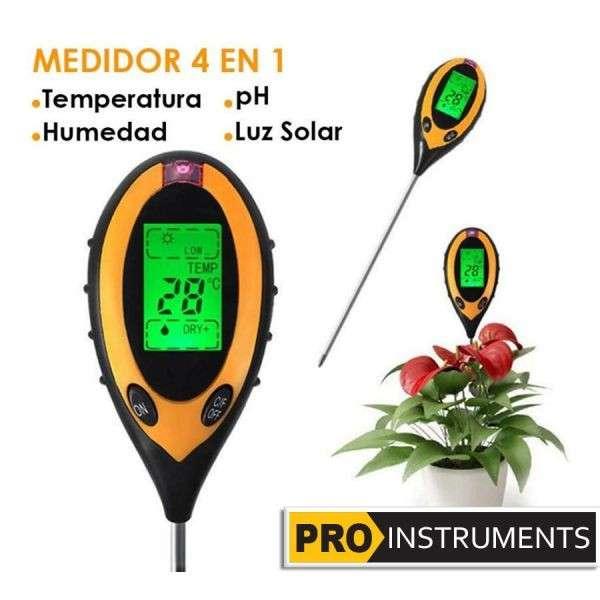 Medidor Digital de Suelo Humedad / Temperatura / Luz / pH - 2