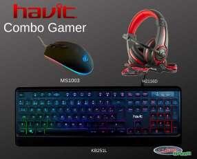 Combo gamer havit teclado + mouse + auricular