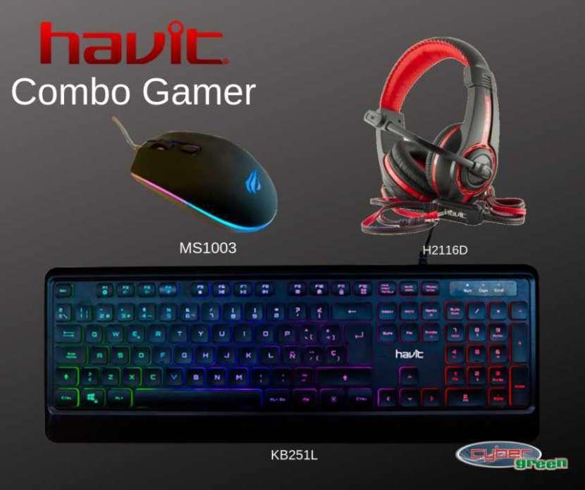 Gamer havit teclado + mouse + auricular - 0