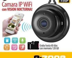 Cámara seguridad IP Wifi HD visión nocturna y detector movimiento