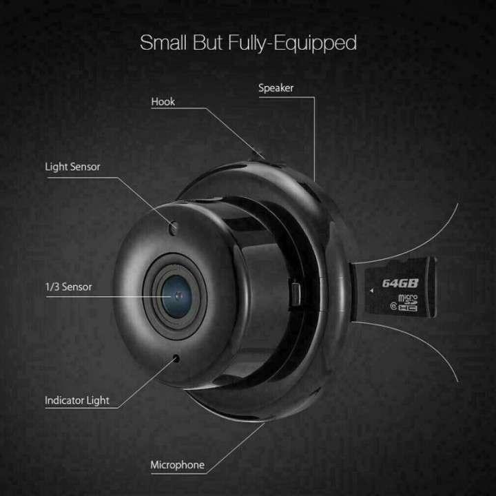 Mini cámara IP wifi HD visión nocturna y detección de movimiento - 4