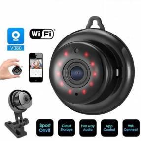 Mini cámara IP wifi HD visión nocturna y detección de movimiento