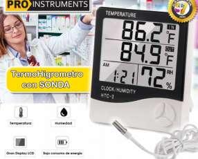 Termohigrometro Digital CON SONDA!, temperatura y humedad