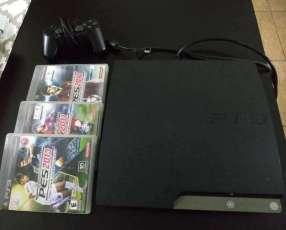 PS3 con 1 control y 3 juegos