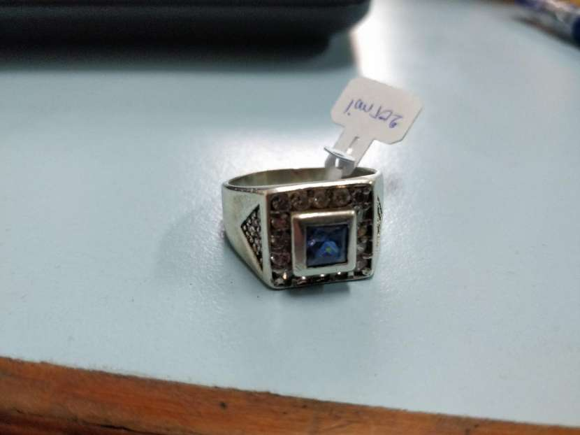 Anillos de plata con gemas de cuarzo de zafiro y diamante - 3