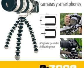 Mini trípode flexible p/ teléfonos o cámaras