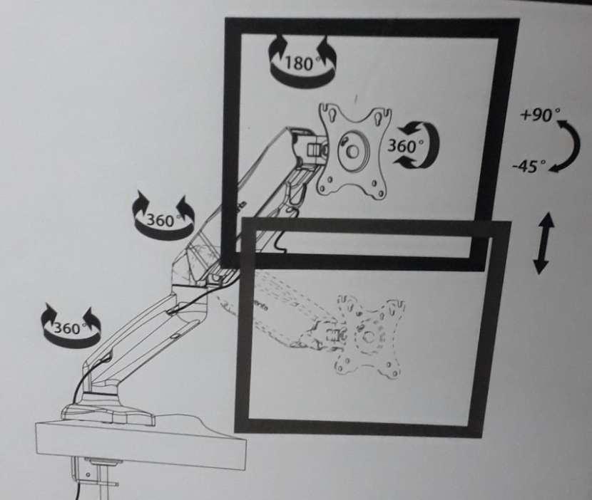 Soporte retráctil de mesa para monitor Quanta QTSAM100 - 2