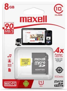 Memoria micro SD 8 gb Maxell
