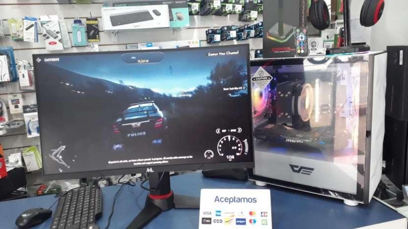 Monitor 24 pulgadas curvo LED Mtek gaming - 0