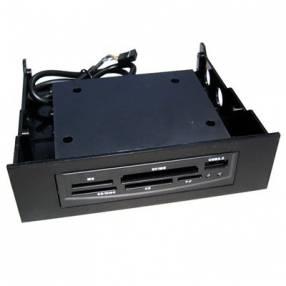 Lector de memorias interno para pc usb 2.0 sate a-hub07 3 puertos usb M2/MMC/MS/SD/XD