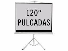Pantalla para proyector 120 pulgadas con trípode KPS-103B 200x180 cm