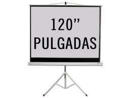 Pantalla para proyector 120 pulgadas con trípode KPS-103B 200x180 cm - 0