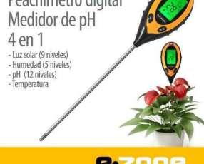 Peachímetro digital medidor de ph 4 en 1 para suelo